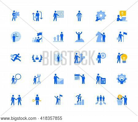 Business Management Icons Set For Personal And Business Use. Vector Illustration Icons For Graphic A