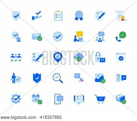 Check Mark Icons Set For Personal And Business Use. Vector Illustration Icons For Graphic And Web De