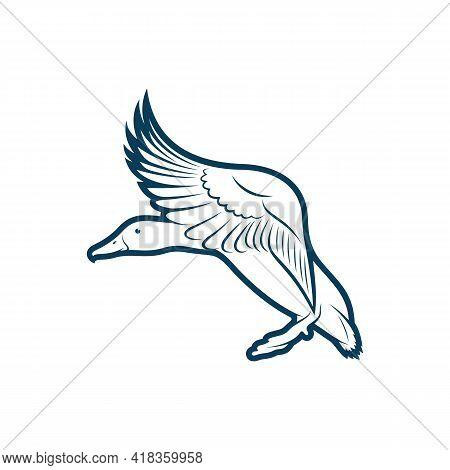 Duck Design Vector Illustration, Creative Duck Logo Design Concept Template, Symbols Icons