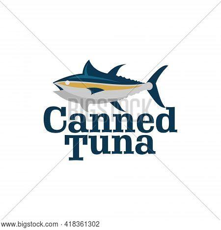 Canned Tuna Fish Logo Premium Seafood Label Industry Or Restaurant Graphic Design Template Inspirati