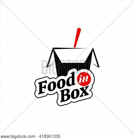 Food Logo Rice Box Circle Stamp Sticker Or Label For Culinary Business And Industry Template Ideas