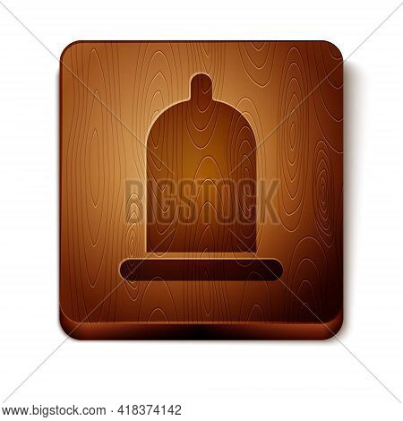 Brown Condom Safe Sex Icon Isolated On White Background. Safe Love Symbol. Contraceptive Method For