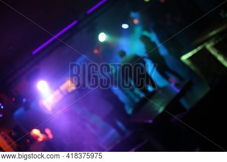 Blurred Photo Of Party Concert,night Party Concert,people Dancing In Concert Party,blur And Flair Im