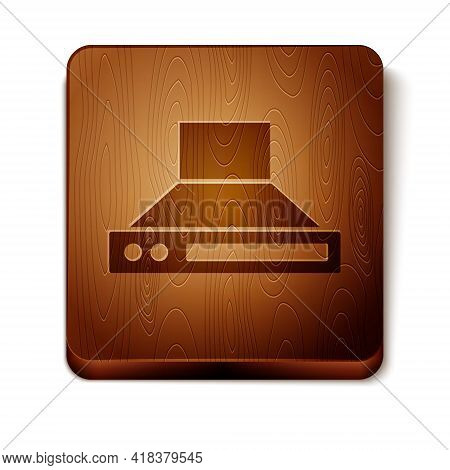 Brown Kitchen Extractor Fan Icon Isolated On White Background. Cooker Hood. Kitchen Exhaust. Househo