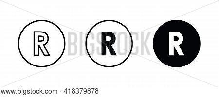 R Letter Logo, Letter R Icons Button, Vector, Sign, Symbol, Illustration, Editable Stroke, Flat Desi