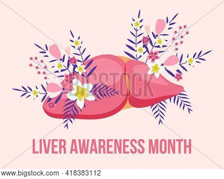 Liver Awareness Moth Concept Vector. Medical Event Is Celebrated In October. Tiny Doctors Treat The