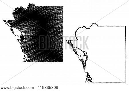 La Crosse County, State Of Wisconsin (u.s. County, United States Of America, Us) Map Vector Illustra