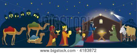 Bethlehem And Three Kings