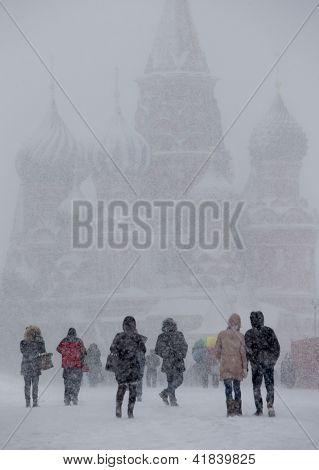 Snowfall Red Square