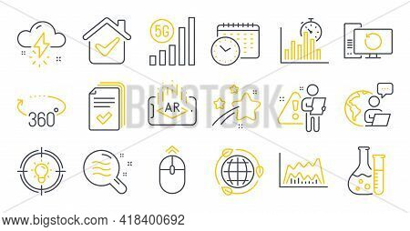 Set Of Science Icons, Such As Skin Condition, Handout, Trade Chart Symbols. Recovery Computer, Eco E