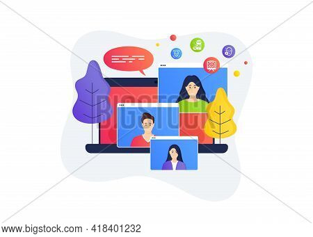 Vision Board, Face Detection And Medical Drugs Icons Simple Set. Home Education Class. Online Course