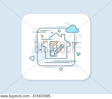 Checkbox Line Icon. Abstract Vector Button. Survey Choice Sign. Business Review Symbol. Checkbox Lin
