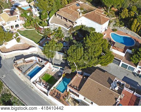 Aerial View Of La Herradura In Andalucia Spain