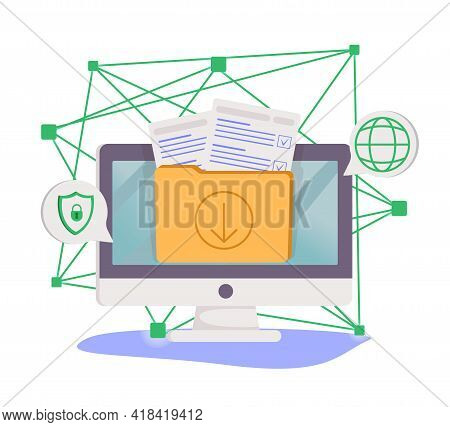 Database Security Software Development. Id Theft, Hacking Crime, Computer Malware. Data Protection,