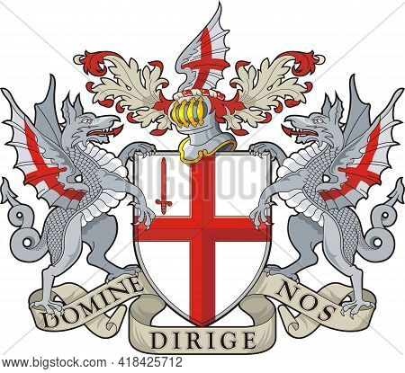 London. England. Coat Of Arms. Vector Illustration