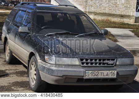 Ust-kamenogorsk, Kz - April 9, 2021. Car Toyota Sprinter Carib. Japanese Car.