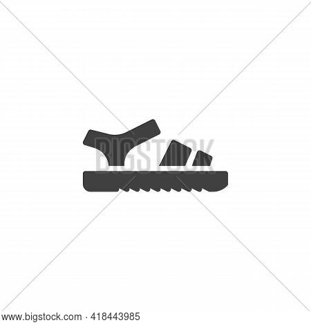 Leather Sandals Vector Icon. Filled Flat Sign For Mobile Concept And Web Design. Sandals Side View G