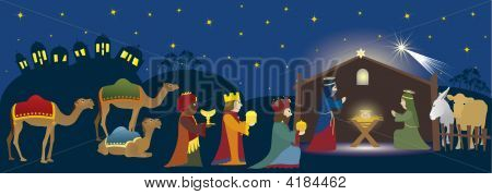 Bethlehem And Three Magi