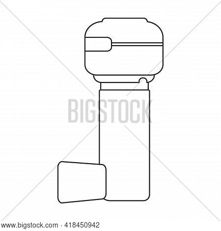 Inhaler Vector Icon.outline Vector Icon Isolated On White Background Inhaler.