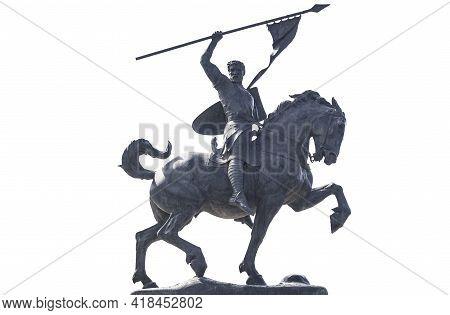 Seville, Spain - Sept 27th 2020: El Cid Campeador Equestrian Statue. Sculpted By Anna Hyatt Huntingt