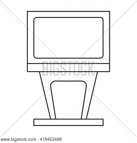 Terminal Vector Icon.outline Vector Icon Isolated On White Background Terminal.