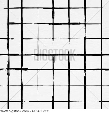 Grid background ink brush pattern