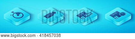 Set Isometric Fast Time Delivery, Envelope, Cardboard Box And Fast Time And Cardboard Box With Free