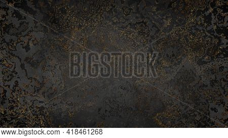Black and golden dust particles grunge background