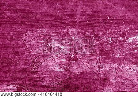 Old Rusted And Stained Floor Pattern In Pink Tone. Background And Texture.