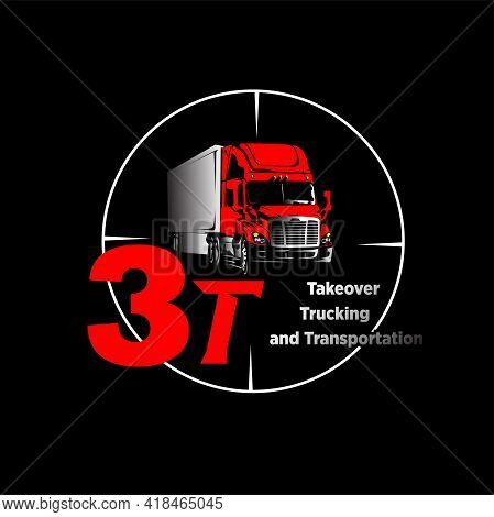 Illustration Vector Graphic Of Truck Logo, Fit For Branding, Expedition, Distribution, Courier Etc.