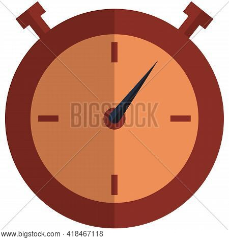 Stopwatch Clock Vector Isolated On White Background