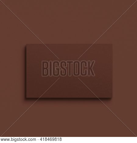 Blank customized brown business card