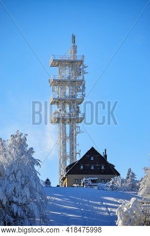 Winter Adventure Trip On Javorový, Mountains In Beskydy