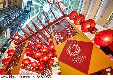 KUALA LUMPUR, MALAYSIA - CIRCA JANUARY, 2020: Interactive Zodiac Reading at Centre Court of Suria KLCC shopping mall in Kuala Lumpur.