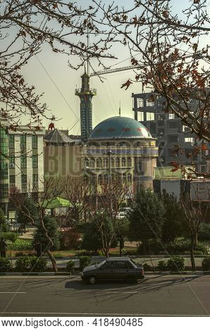 Tehran,iran,november 29,2020:opposite The Park, Next To Freedom Square, On A Small Street Of Mohamma