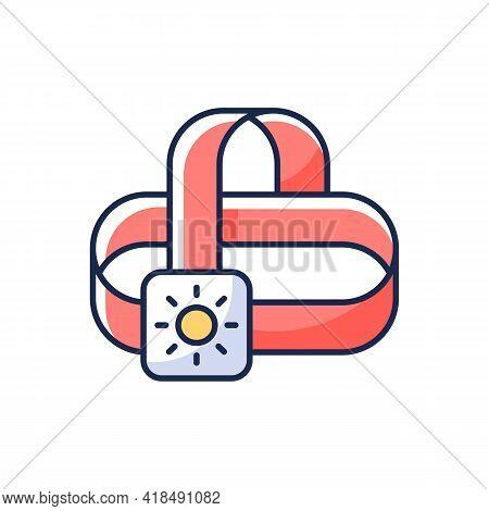 Travel Headlamp Rgb Color Icon. Head Lantern. Electrical Torch. Roadtrip Gear. Nomadic Lifestyle. Ca
