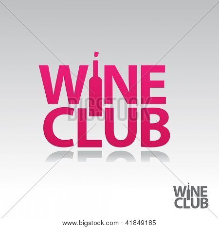 Symbol of the wine club. Sign sommelier. vector