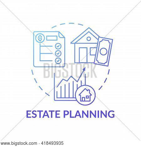 Estate Planning Concept Icon. Wealth Advisory Idea Thin Line Illustration. Holding Stocks And Bonds.