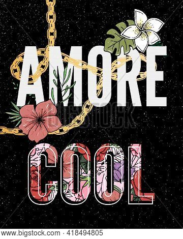 Embroidery Flowers. Cool Amore Slogan. Classical Embroidery Lotus And White, Pink And Yellow Water L