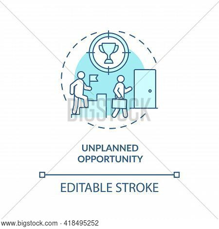 Unplanned Opportunity Concept Icon. Unexpectedly Manifests New Opportunity Idea Thin Line Illustrati
