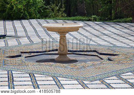 Old Moorish Fountain In The Fez. Morocco.