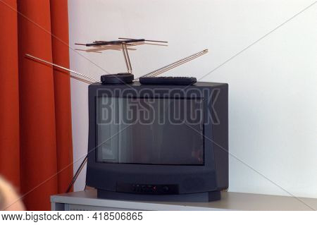 A Television Or Tv Set
