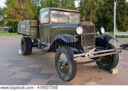 Nelidovo Village, Volokolamsk District, Moscow Region - August 20, 2020: Gaz-mm Ussr 1940s Military