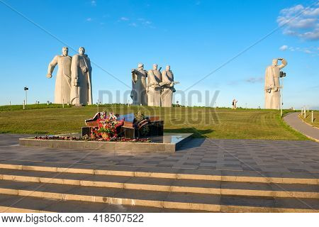 Nelidovo Village, Volokolamsk District, Moscow Region - August 20, 2020: Memorial To