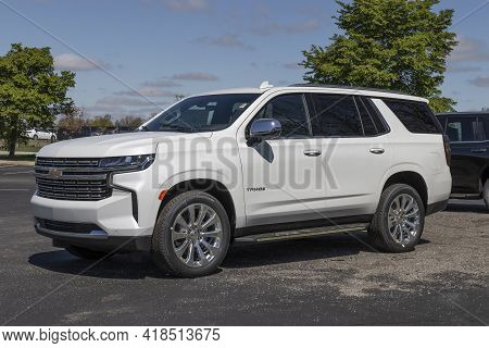 Plainfield - Circa April 2021: Chevrolet Tahoe Suv Display. Chevy Is A Division Of General Motors Al