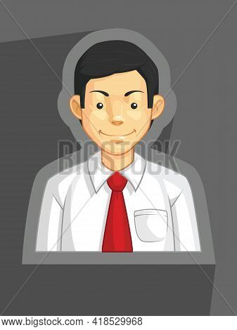 Company Office Worker Corporate Executive Profile Avatar Cartoon