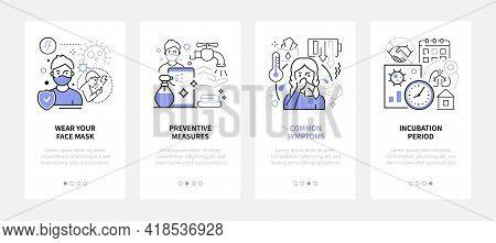 Coronavirus Disease - Line Design Style Web Banners