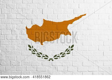 Flag Of Cyprus Brick Wall Texture Of The Flag Of Cyprus.