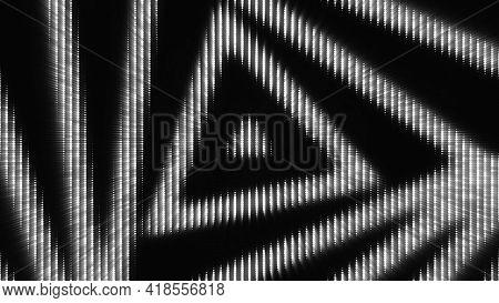 Luminous Triangular Pattern. Animation. Background Of Electronic Diode Pattern Of Moving Triangular