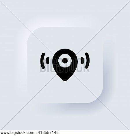 Map Pointer Icon. Location Icon. Map Pointer Notification. Neumorphic Ui Ux White User Interface Web